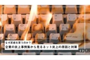 なぜ反感を買うのか?企業の炎上事例集から見るネット炎上の原因と対策